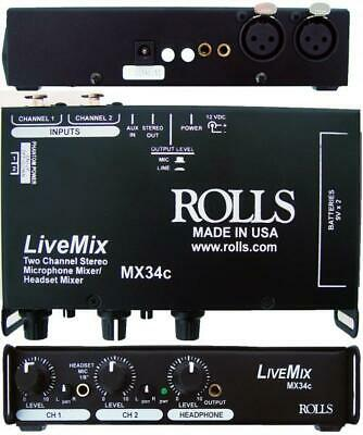 Rolls Livemix Mx34c Audio Mixer (mx34c) • 76.58£