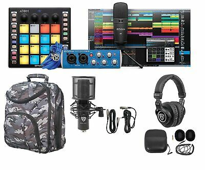 PRESONUS ATOM PRODUCER LAB : Pad Controller+Interface+Mics+Headphones+CAMOPACK • 301.78£