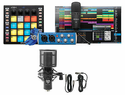 PRESONUS ATOM PRODUCER LAB Production Kit Pad Controller+Interface+Mics+Software • 236.52£