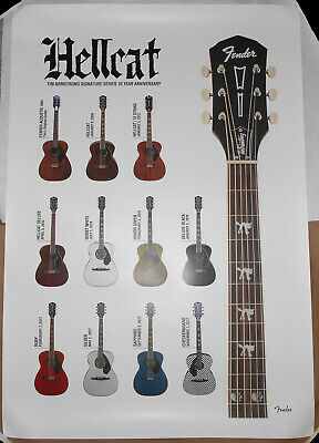 Fender Hellcat Guitar Promo Poster Tim Armstrong Rancid Timebomb Punk Acoustic • 57.52£