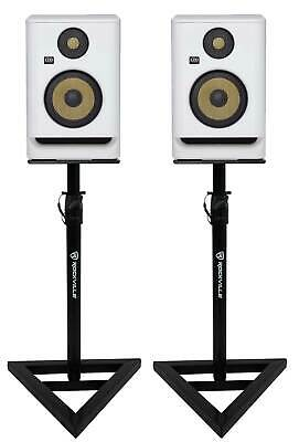 (2) KRK ROKIT RP5 G4 5  Studio Monitor DSP Speakers White Noise Edition+Stands • 263.29£