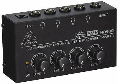 Behringer HA400 Microamp 4 Channel Stereo Headphone Amplifier • 22.17£