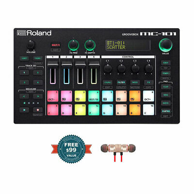 Roland MC-101 Groovebox W/ Free Wireless Earbuds - Stereo Bluetooth In-ear New • 407.05£