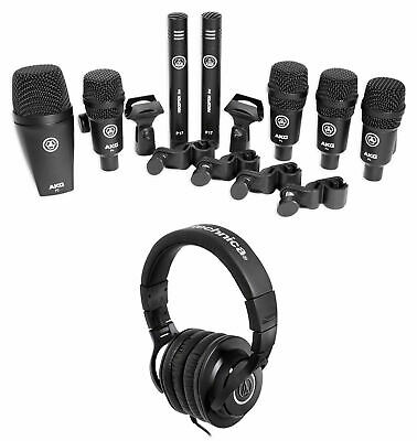 AKG Drum Set Session I (7) Mics Bass/Overhead/Snare/Tom+ATH-M40X Headphones • 326.28£