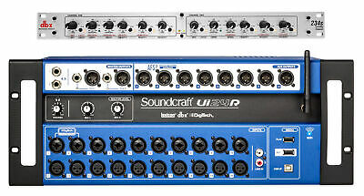 Soundcraft Ui24R 24 Input Digital Mixer W/Wifi+App Control Ui 24R+DBX Crossover • 971.36£