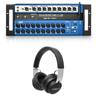 Soundcraft Ui24R Digital Mixer W/Wifi+App Control+Recording Ui 24R + Headphones • 827.98£