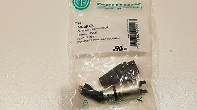 100X Neutrik Female XLR Plug Audio Connector NC3FXX 3Pole Pin Nickel BoSEALED B • 99£