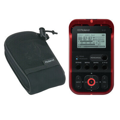 Roland R-07 Handheld Audio Recorder Red R-07-RD W/Free Roland Carry Pouch New • 155.75£
