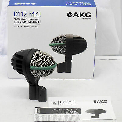 AKG D112 MKII Professional Cardioid Dynamic Bass Drum Microphone MINT • 121.89£