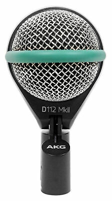 AKG D112 MKII Kick Drum Bass Guitar Microphone Mic For Church Sound Systems • 161.72£