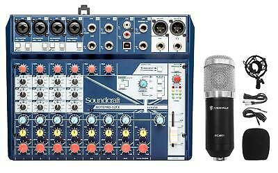 Soundcraft Notepad-12FX 12-Channel Mixer W/USB I/O+Effects+Studio Mic+Shockmount • 134.84£