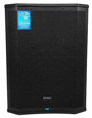 PRESONUS AIR18s 18  1200w DSP Powered Vented Subwoofer For Church Sound Systems • 766.19£