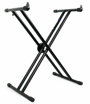 Rockville Double X Braced Keyboard Stand WPush Button Lock For Kurzweil Forte SE • 30.63£