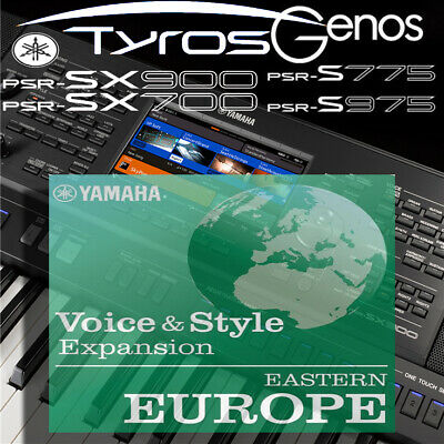 Yamaha PSR-SX900/700-Tyros-Genos *EASTERN EUROPE* Expansion Pack • 5.99£