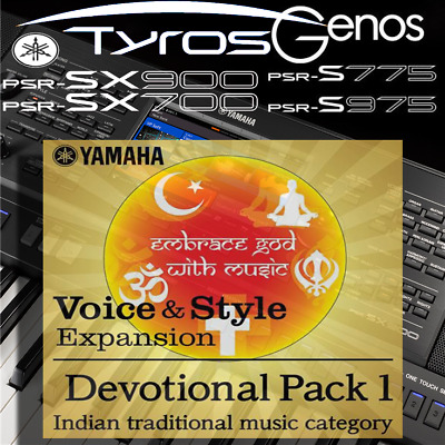 Yamaha PSR-SX900/700, S-series, Tyros, Genos *INDIAN DEVOTIONAL* Expansion Pack • 4.99£