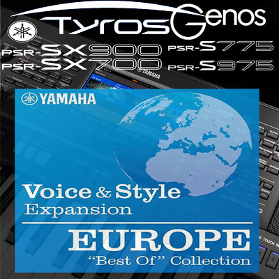 Yamaha PSR-SX900/700, S-series, Tyros, Genos *BEST OF EUROPE* Expansion Pack • 8.99£