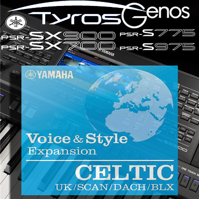 Yamaha PSR-SX900/700, S-series, Tyros, Genos *CELTIC* Expansion Pack • 6.99£