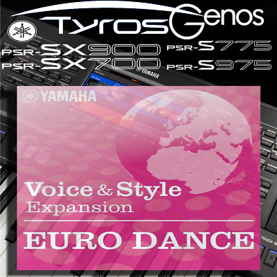 Yamaha PSR-SX900/700, S-series, Tyros, Genos *EURO DANCE* Expansion Pack • 6.99£