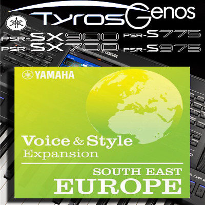 Yamaha PSR-SX900/700, S-series, Tyros, Genos *SOUTH EAST EUROPE* Expansion Pack • 5.99£