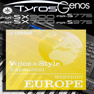 Yamaha PSR-SX900/700, S-series, Tyros, Genos *WESTERN EUROPE* Expansion Pack • 5.99£