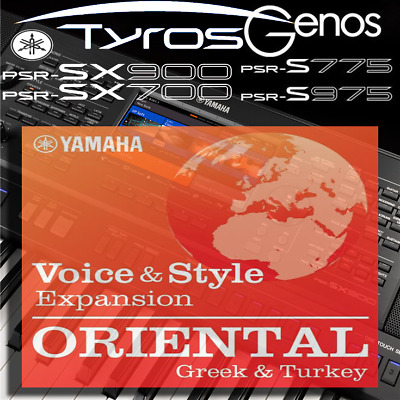 Yamaha PSR-SX900/700, S-series, Tyros, Genos *ORIENTAL GR&TR* Expansion Pack • 7.99£
