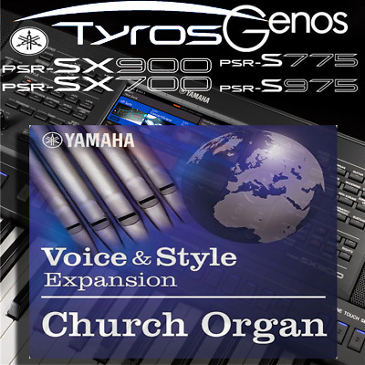 Yamaha PSR-SX900/700, S-series, Tyros, Genos *CHURCH ORGAN* Expansion Pack • 6.99£
