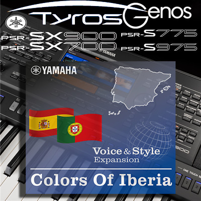 Yamaha PSR-SX900/700, S-series, Tyros, Genos *COLOURS OF IBERIA* Expansion Pack • 6.99£