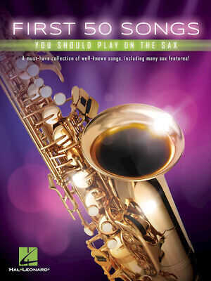 First 50 Songs You Should Play On The Sax (Various) Instrumental Folio Sax • 8.49£
