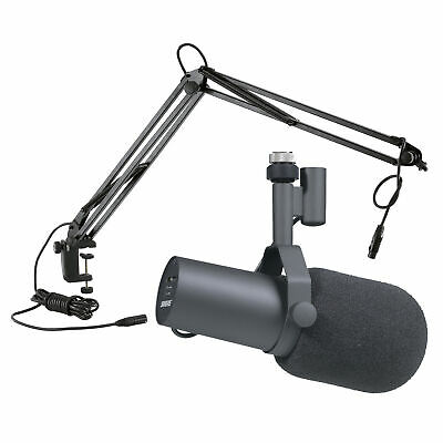 Shure SM7B Broadcast Microphone With Konig & Meyer 23850 Table Mounted Boom Arm • 397.01£
