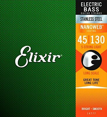 Elixir Base String NANOWEB Stainless Steel Long Scale 5 String Ligh From Japan • 67.24£