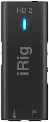 IK Multimedia IRig HD 2 - Interface For Guitar, 96 KHz With 24-bit A/D • 100.32£