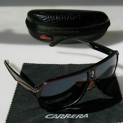 Carrera Sunglasses Men's Pilot Gradient Lens Eye Glasses Box Black+Red • 6.97£