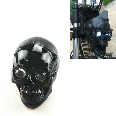 Front Motorcycle LED Skull Headlight Lamp Universal For Harley V Twin 74 1943 CL • 111.11£