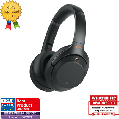 SONY WH1000XM3 Wireless Bluetooth Headphones Noise Cancelling Over Ear NFC Black • 286.55£