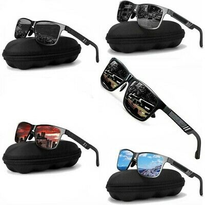 Men Women Aluminium HD Polarized Photochromic Sunglasses Pilot Driving Eyewear • 8.99£