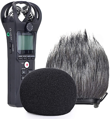 YOUSHARES Zoom H1n Recorder Foam & Furry Indoor/Outdoor Windscreen Muff, Pop H1n • 17.06£