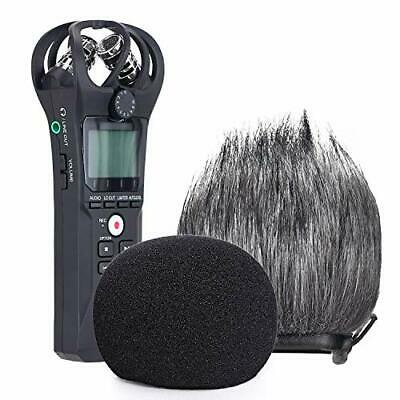YOUSHARES Zoom H1n & H1 Recorder Foam & Furry Indoor/Outdoor Windscreen Muff • 17.17£