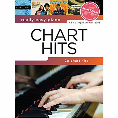 Really Easy Piano: Chart Hits 6 By Various Book The Cheap Fast Free Post • 6.59£