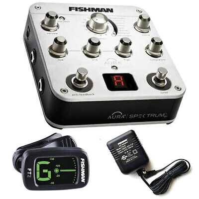 Fishman Aura Spectrum DI Acoustic Pedal W/ FREE Power Supply FT2 Tuner • 274.93£