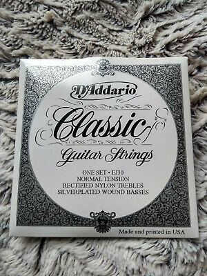 D'Addario EJ30 Classic Guitar Strings Normal Tension Rectified Nylon Trebels  • 9£