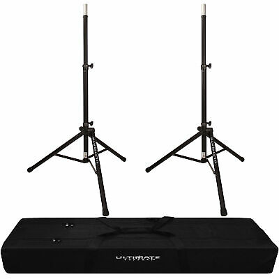 2x Ultimate Support TS-80B Speaker Stand With Padded Dual Tripod Tote Bag • 150.42£