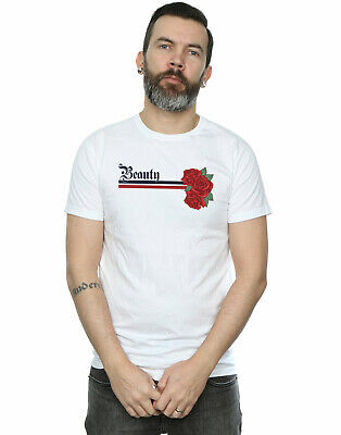 Disney Princess Men's Beauty And The Beast Belle Stripes And Roses T-Shirt • 16.99£
