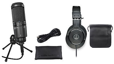Audio Technica Gaming Streaming Twitch Bundle: Mic+ATH-M30X Headphones+Stand • 157.73£