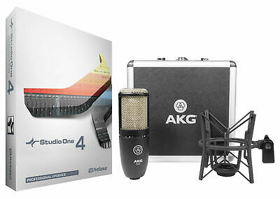 Presonus Studio One 4 Pro Upgrade From Artist/Producer+AKG Mic+ShockMount+Case • 236£