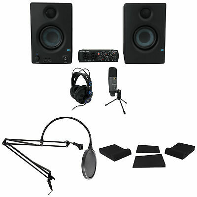 PRESONUS AudioBox 96 Studio Ultimate Gaming Twitch Stream Kit W/Boom+Pop Filter • 254.67£