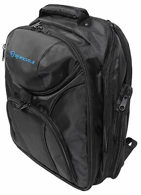 Rockville Travel Backpack+Headphone Compartment For Reloop Neon DJ Controller • 43.38£
