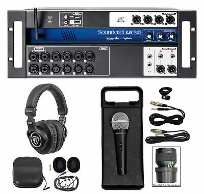 Soundcraft Ui16 16 Input Digital Wifi Mixer+App Control+Recording+Headphones+Mic • 303.99£