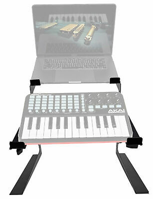 Rockville Dual Shelf Laptop+Controller Stand For Akai APC Key25 Keyboard • 35.73£