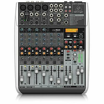 Behringer QX1204USB Premium 12 Input 2/2 Bus Mixer with XENYX Mic, Preamps and