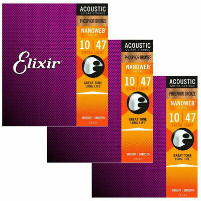 Guitar 16027 Nanoweb 16002 Acoustic 16052 16077 Strings 16102 Phosphor Elixir • 11.97£